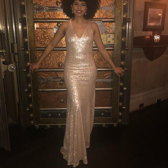 f0af0c20e8e41 JAYGODFREY Dresses | Jay Godfrey Nude Gold Jemma Sequin Gown Size 8 ...